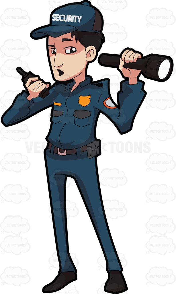 614x1024 Clipart Of Security Guard