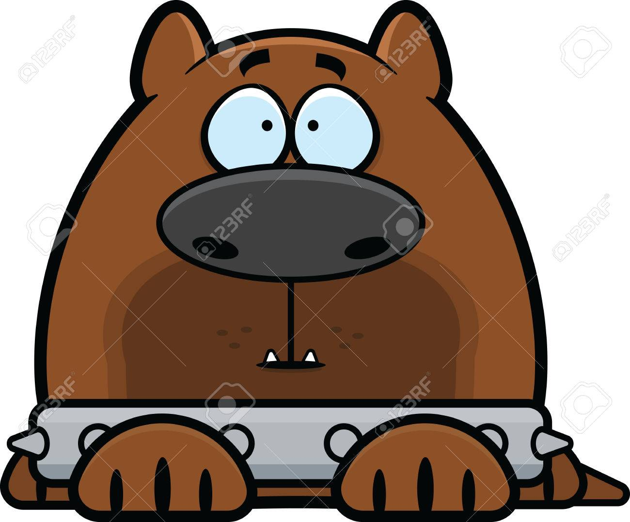 1300x1077 Cartoon Illustration Of A Guard Dog With A Spiked Collar
