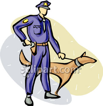 338x350 Royalty Free Clip Art Image Police Officer With A Police Dog