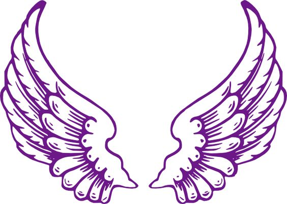 564x402 Our Purple Wings. Free Clip Art