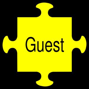 300x300 Jigsaw Guest Yellow Clip Art