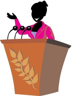 236x313 Speakers Clipart Lady