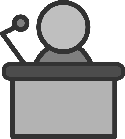 534x594 Speakers Clipart Podium