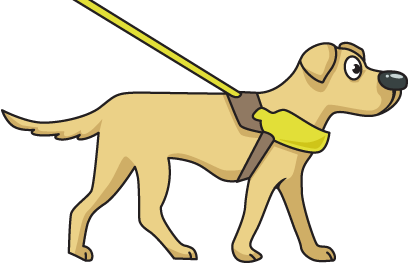 408x263 Clipart Of Guide Dogs