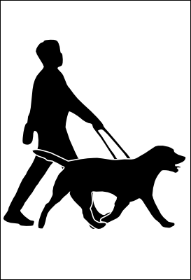 273x400 Guide Dog Clipart