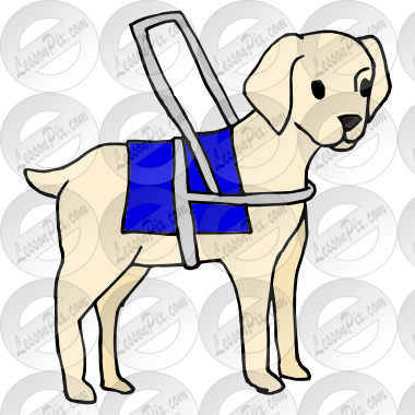 380x380 Guide Dog Picture For Classroom Therapy Use