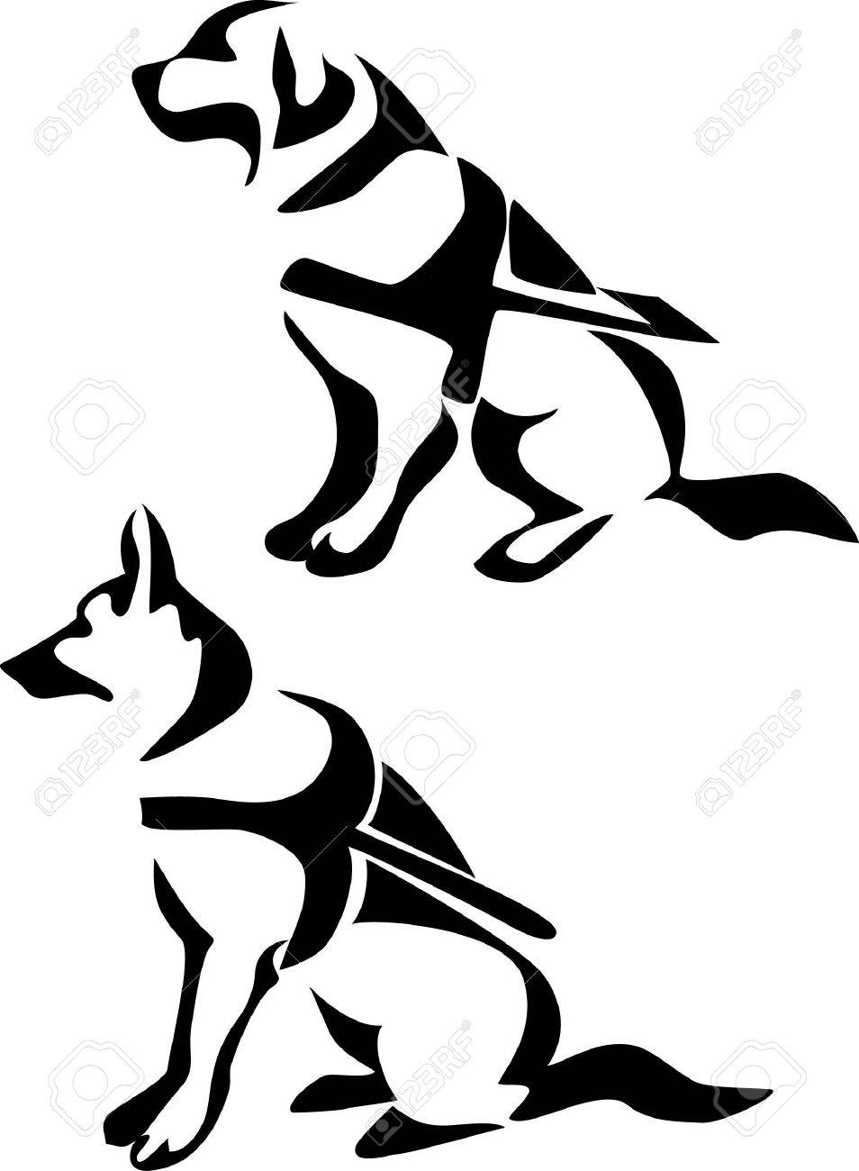 954x1300 Guide Dog Royalty Free Cliparts, Vectors, And Stock Illustration