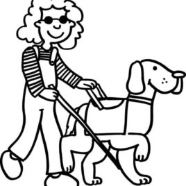 seeing eye dog coloring pages | Guide Dog Clipart | Free download best Guide Dog Clipart ...