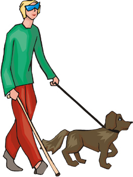 264x350 Dogs For The Blind Clipart