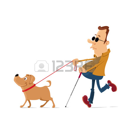 450x450 Blind Man Walking With Help Of Guide Dog Royalty Free Cliparts