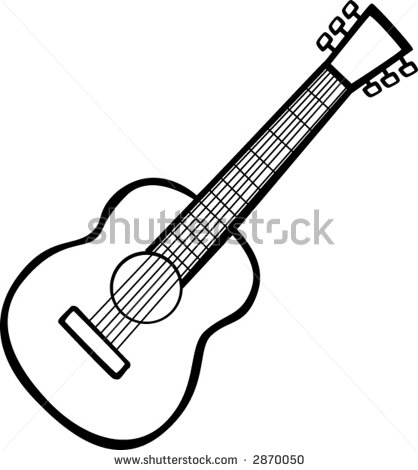 418x470 Guitar clipart line drawing
