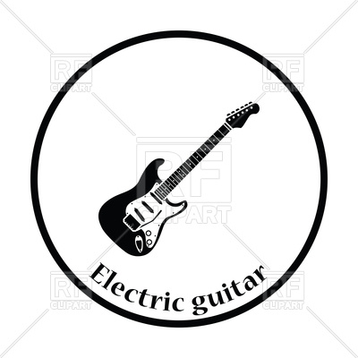 400x400 Pictogram of electric guitar