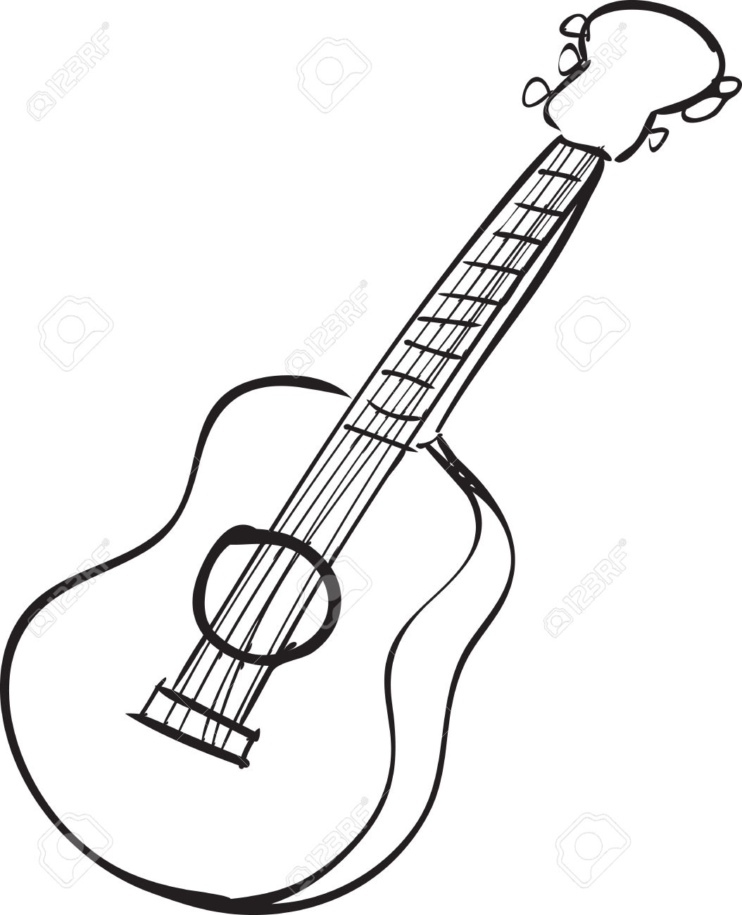 1054x1300 Sketch clipart guitar