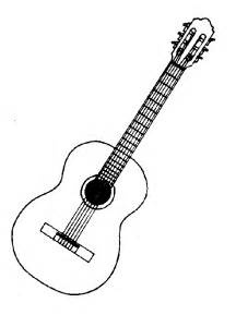 216x289 black and white acoustic guitar clipart