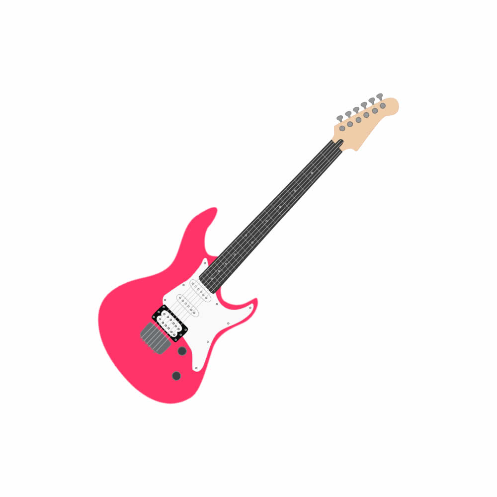 1000x1000 Pink guitar clip art free clipart images