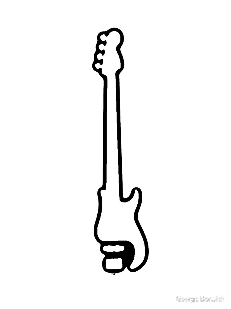 750x1000 Bass Guitar Outline