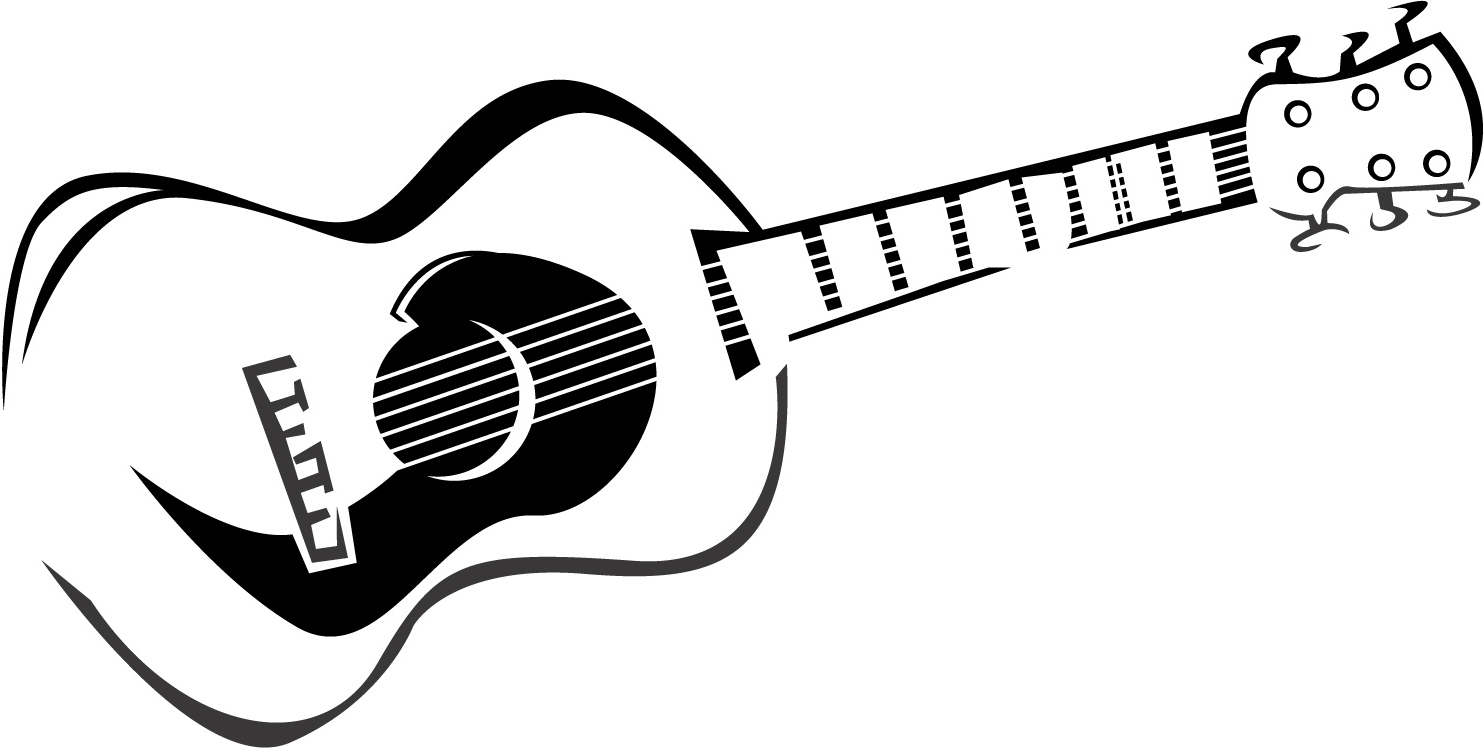 Guitar Clipart Black And White | Free download on ClipArtMag