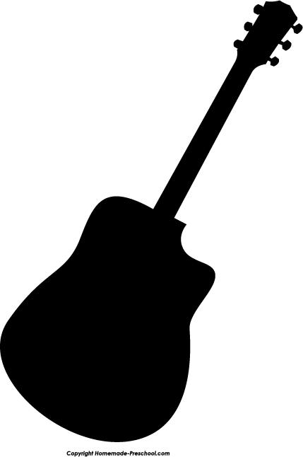 429x646 Guitar clipart silhouette