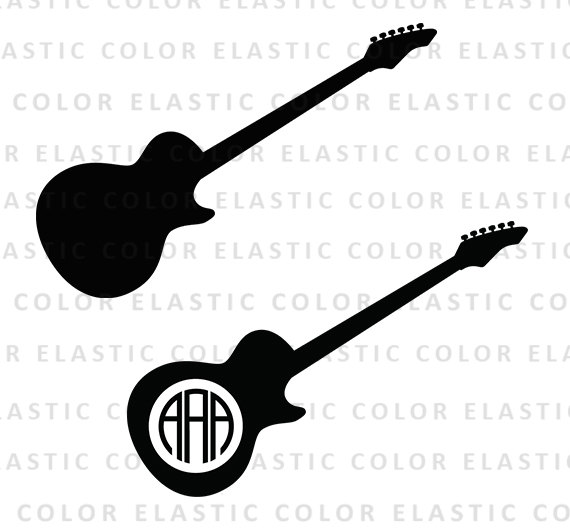 570x530 Guitar svg guitar monogram file guitar clipart electric