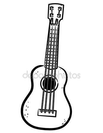 348x450 Ukulele clipart black and white