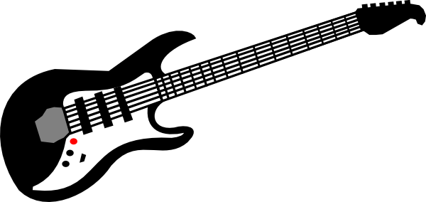 600x284 Electric Guitar Clip Art