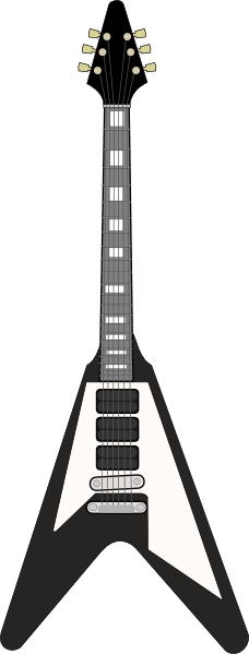 228x599 Flying V Guitar Clip Art Free Vector 4vector