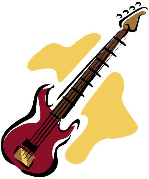 500x600 Free Guitar Clipart