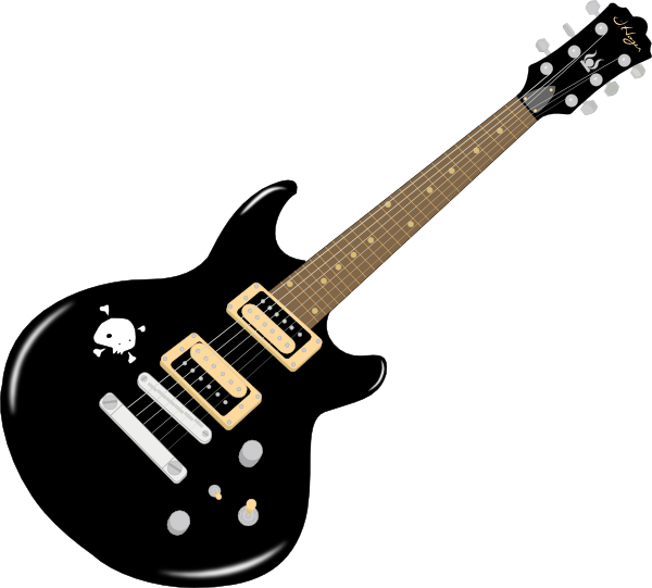 600x541 Free Guitar Clipart Image