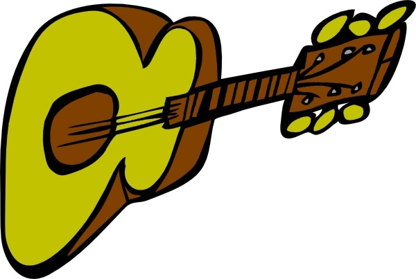 600x403 Acoustic Guitar Clip Art Free Vector In Open Office Drawing Svg