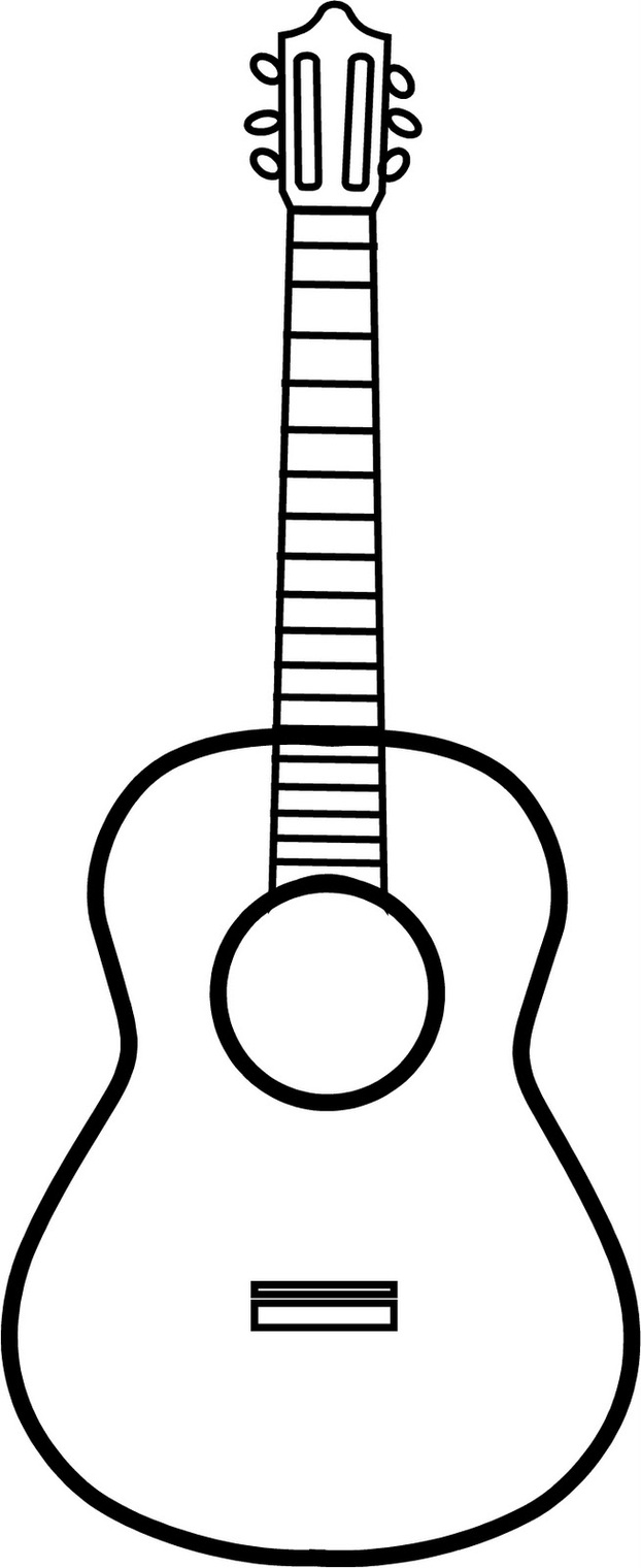 622x1520 Guitar Line Drawing Clipart