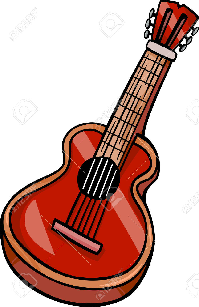 845x1300 Guitar Clipart Drawn
