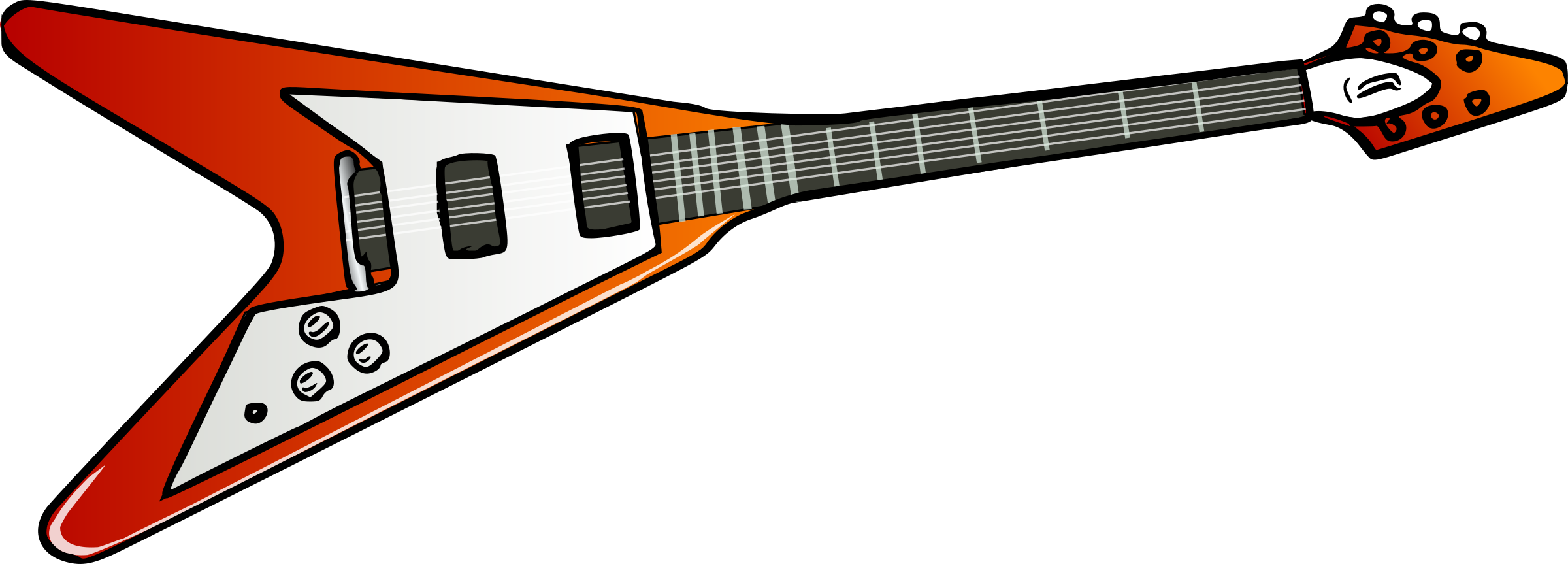 2400x863 Guitar Clipart Flying V
