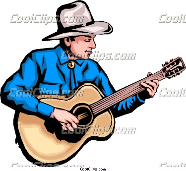 375x345 Cowboy Playing Guitar Clipart