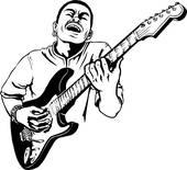 170x155 Clip Art of illustration, lineart, guitar, player, guitarist