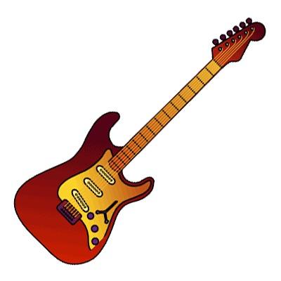 400x400 Electric guitar line art free clip clip art