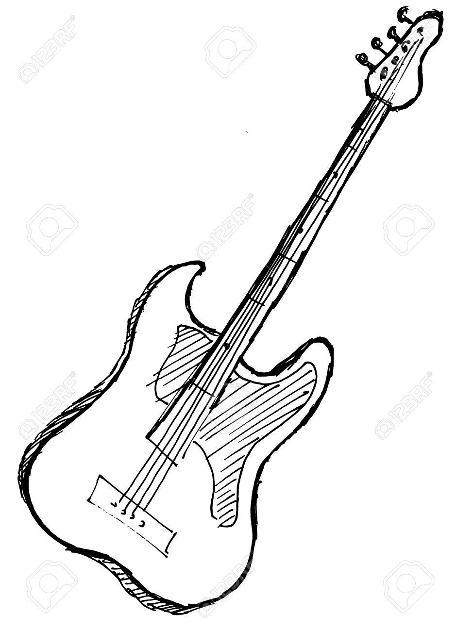 974x1300 Guitar clipart drawn
