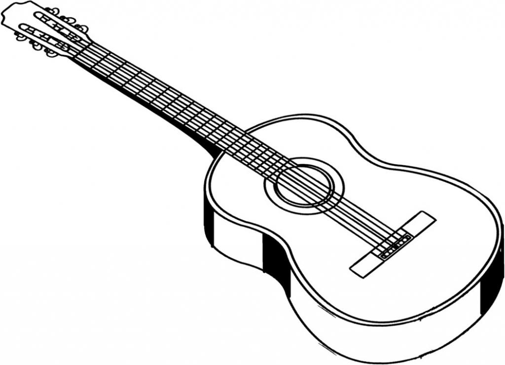 1024x739 Acoustic Guitar Drawing Acoustic Guitar Drawings Clipart Best