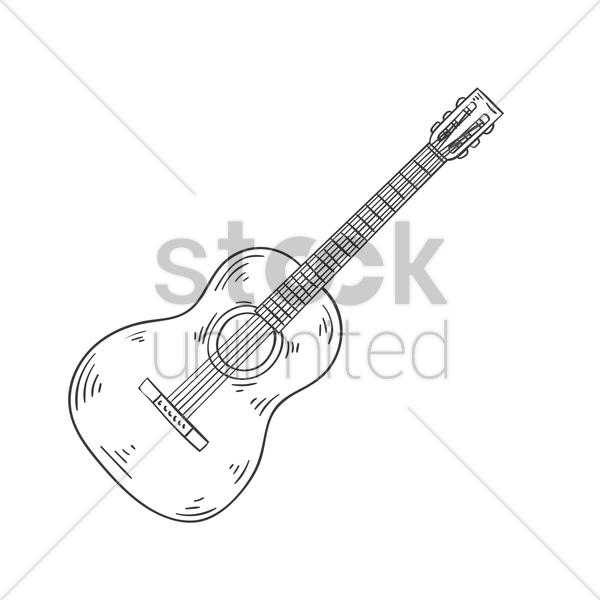 600x600 Acoustic guitar Vector Image