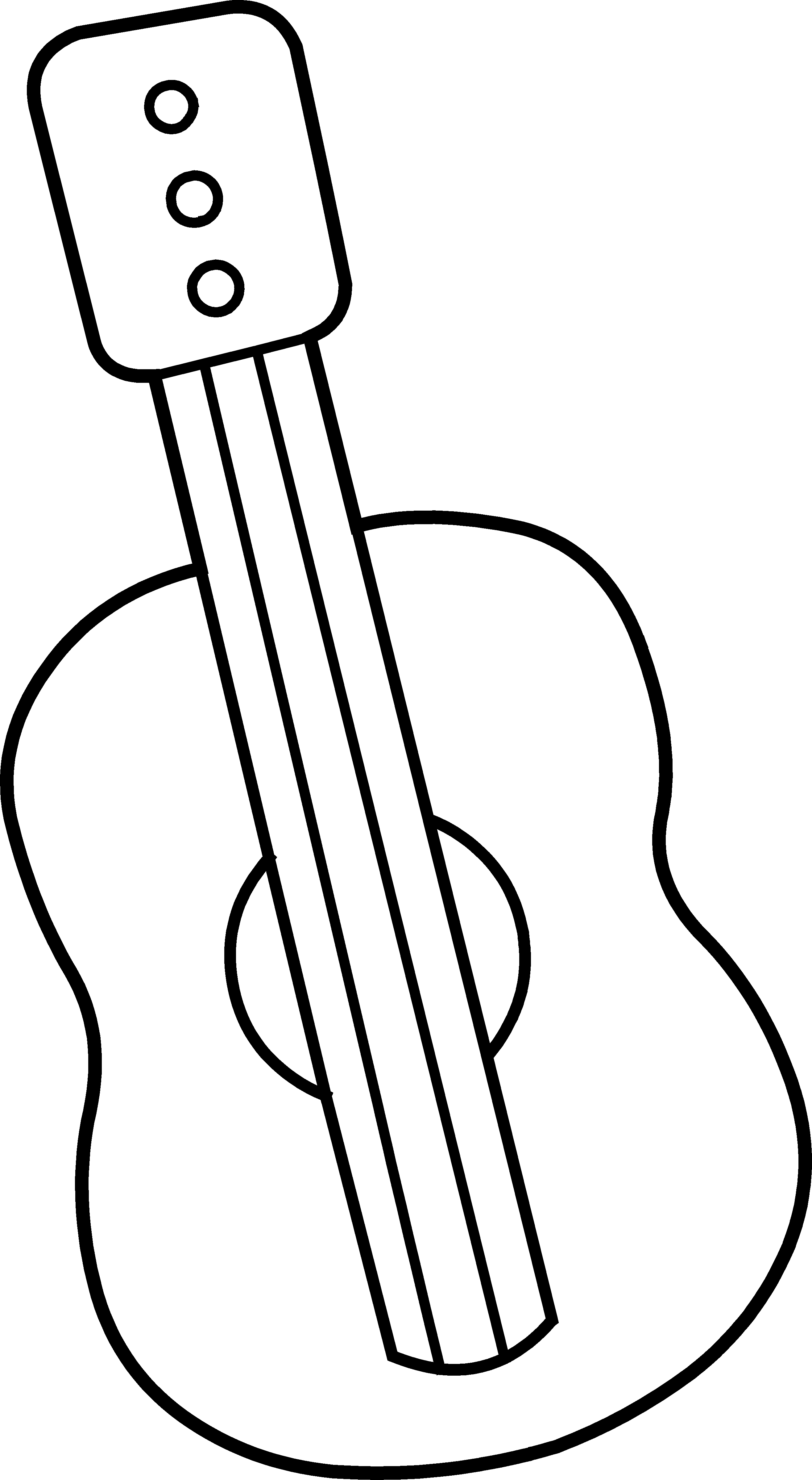 2632x4794 Free Guitar Clipart Outline Image
