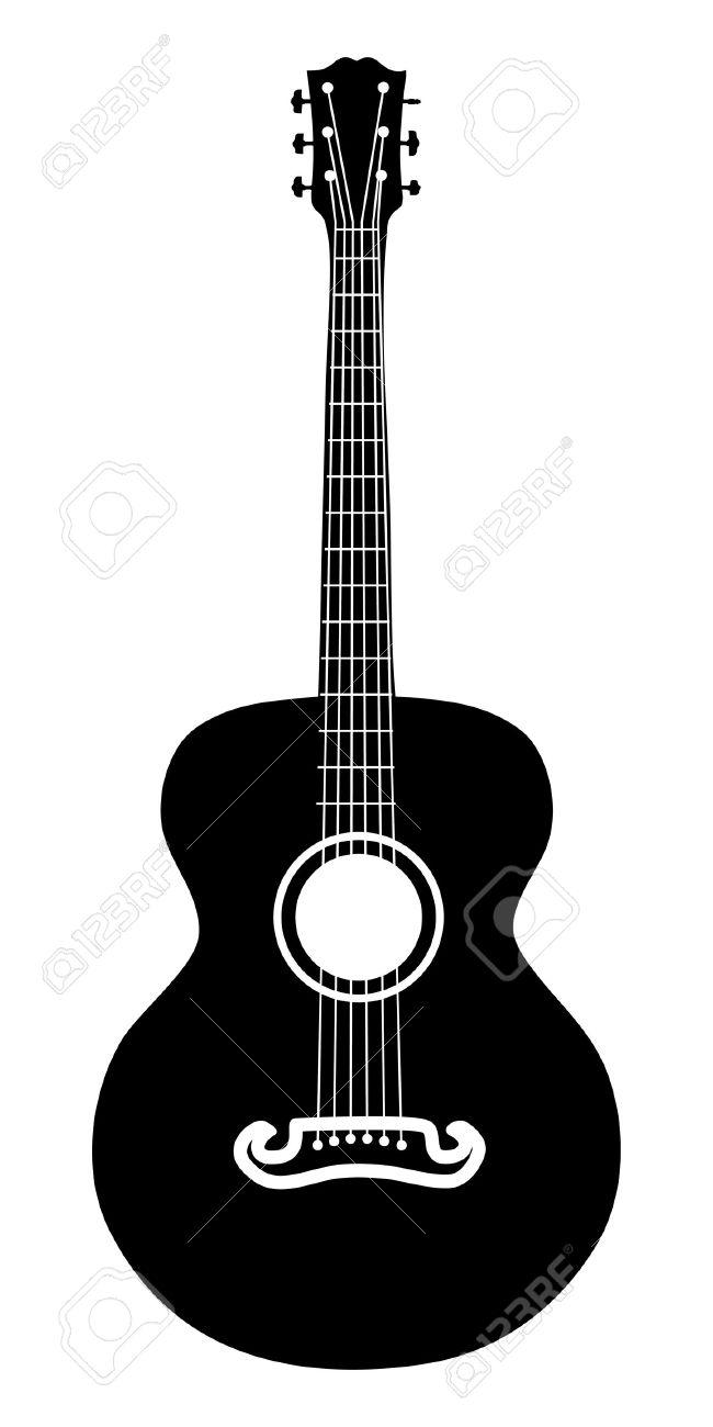 650x1300 Guitar Clipart Guitar Outline