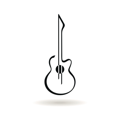 414x414 Guitar Clipart Horizontal