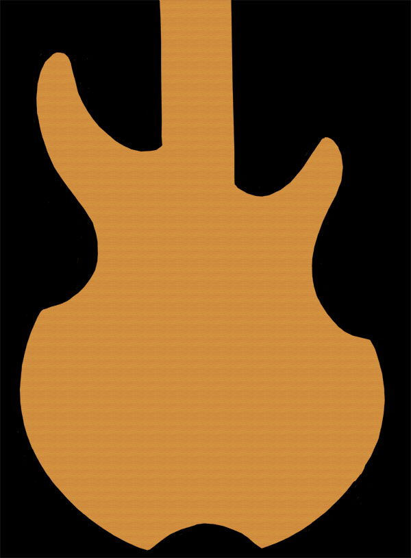 600x814 Best Guitar Outline