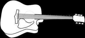 297x132 Black Outline Of Acoustic Guitar Clip Art