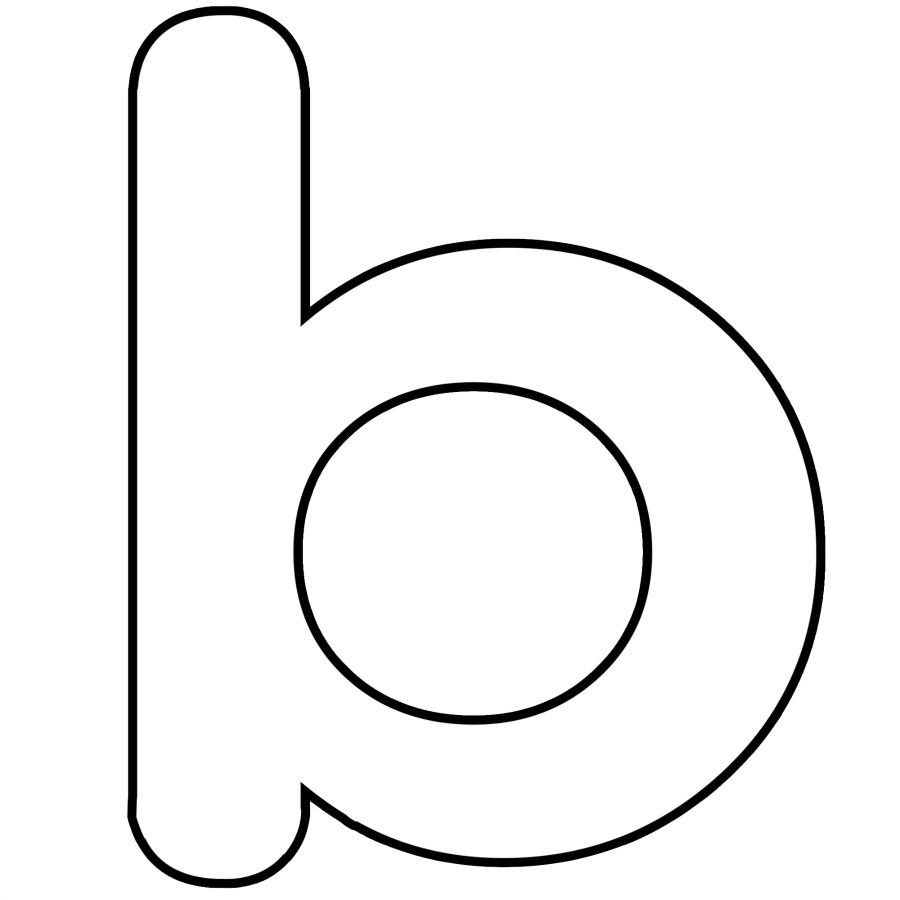 900x900 Clipart Alphabet Outline Free