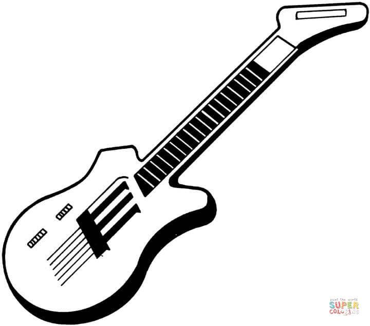 720x635 Electric Guitar Coloring Page Free Printable Coloring Pages