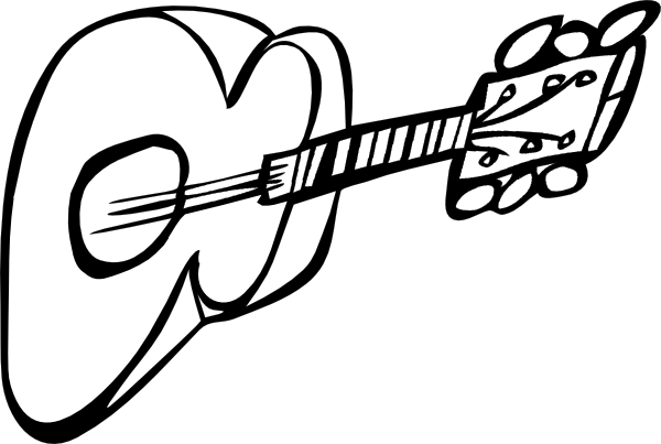 600x403 Free Guitar Clipart Outline Image