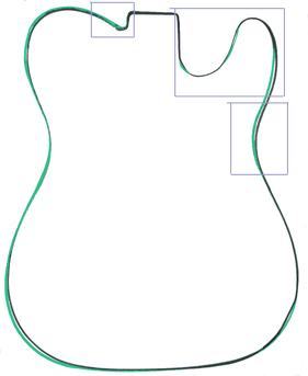 281x343 Guitar Outline Template Clipart Panda