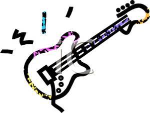 300x227 Guitar Clipart Guitar Outline