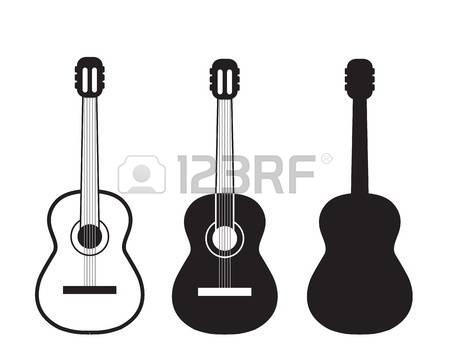 450x349 Guitar clipart symbol