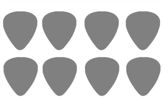 564x375 guitar pick template actual size I use this all the time to make